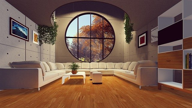 Modern style of furniture arrangement